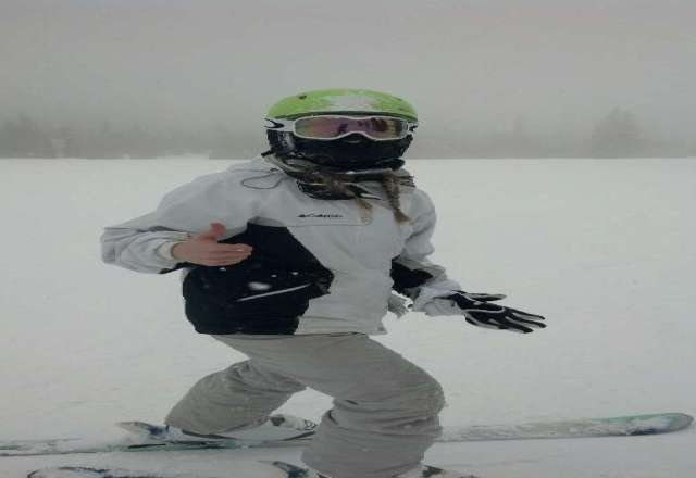 7 inches of fresh powder!! perfect white out conditions :)