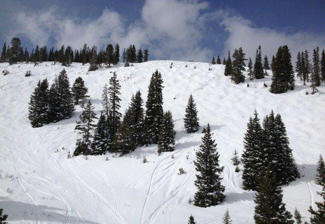 grwat snow off of sierra lift