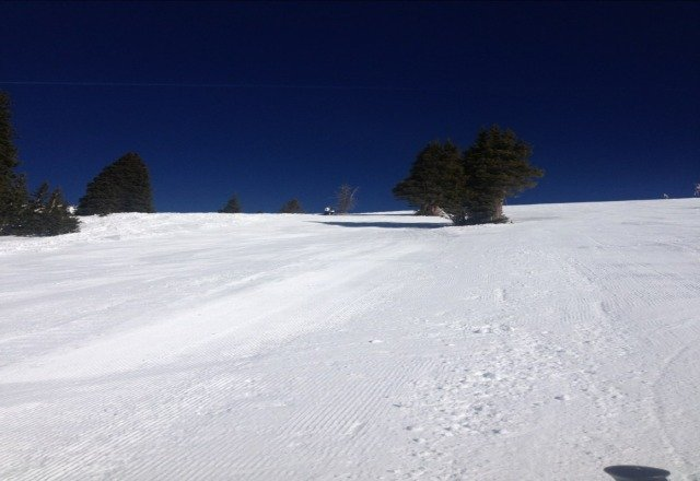 bluebird day on copper. no lines.