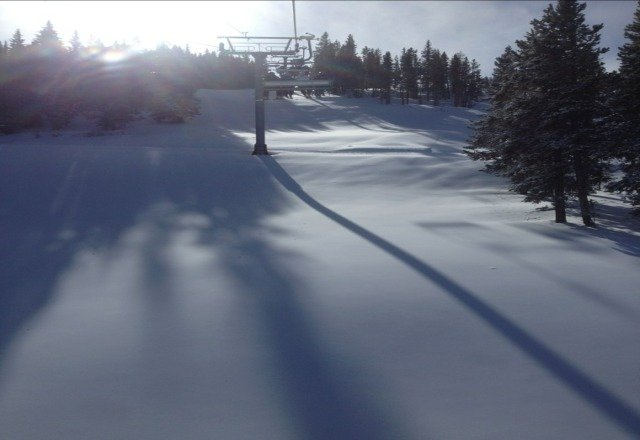 not bad out there, more chair 2 runs open today as well as chair 3....slow but steady...:)