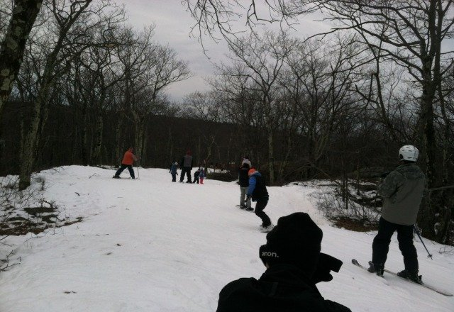 As good as you can ask for with fake snow. Little sketchy at some points overall an awesome first time out for the season. Cant wait till they get some big terrain built!