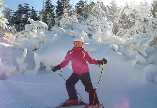 Ski Diva spotted on Barker mtn  at Sunday River. Sat. Nov10 th.