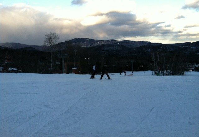 cold today and sometimes windy but sunny, excellent grooming, no lines and people are nice!