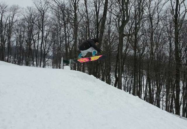 first time at highland. for the Midwest it's above average and could be better!  what terrain park? how many days to cut a pipe? make some stinking features already!!!!