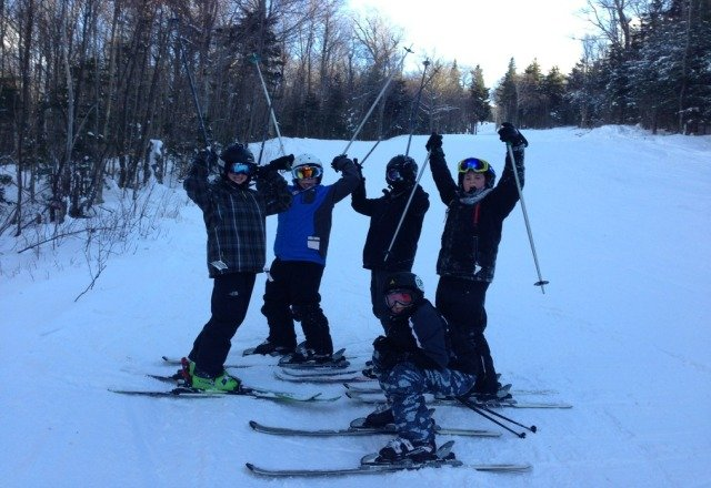 what a day.... great snow!  sweet glades!  wixon ski trip!