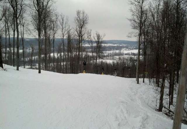 Great skiing today tons of fresh gnar....a little sticky though