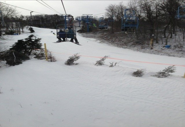 good snow. not too crowded