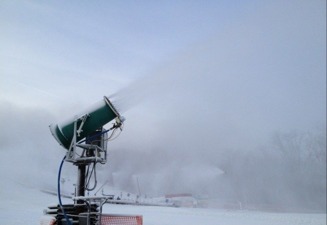 Snowmaking continues tonight. 