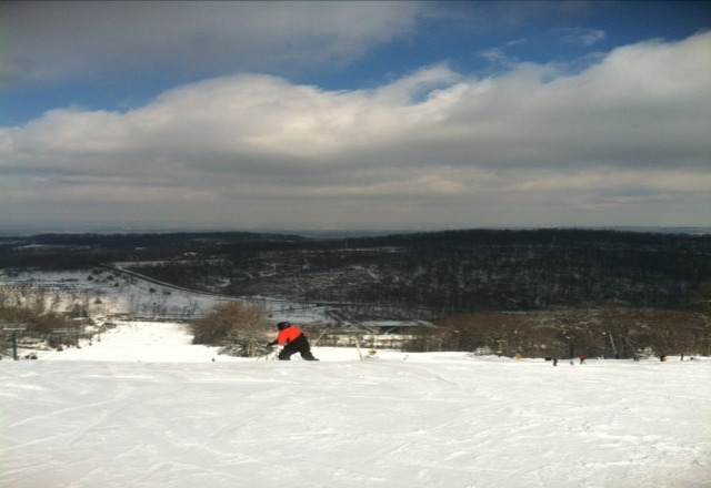 was a perfect day for Skiing at RoundTop. Lots of powder, not too crowded, and i didnt break my leg. Well done