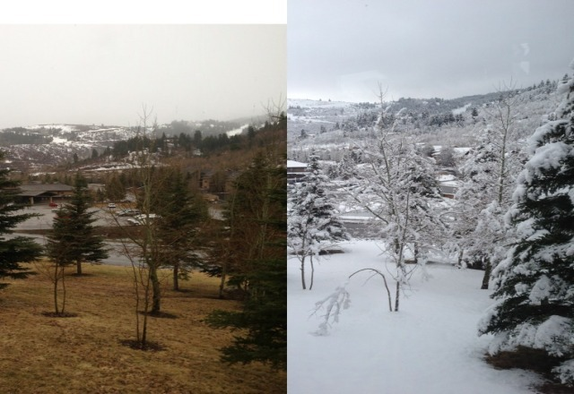 yesterday to this morning.