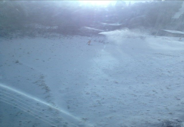 new snow!!! and its cold enough to make it!!! hould be fully open soon!! get up here!