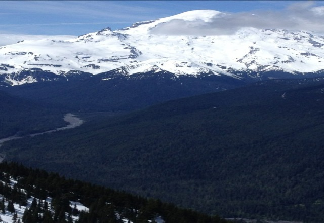 Not a bad day a crystal. Soft in places, good corn snow as well. great views of Rainier. Come and get it while you can.