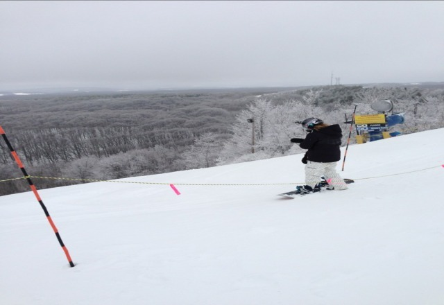not too bad. got a few inches yesterday and no lift lines at all!!