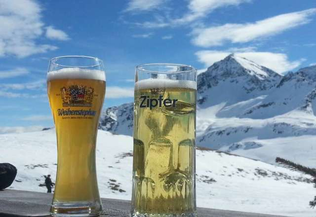great on piste for skis but needs new snow for boards and powder hounds...Beer is still cold but weather is warm and springlike softening pistes.