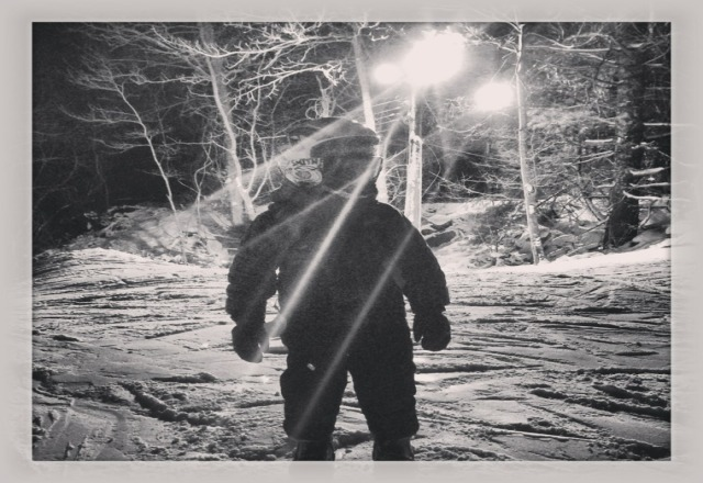 there were actually four trails open with three lifts last night. had a great night teaching my son. snow is as good as it gets in RI.
