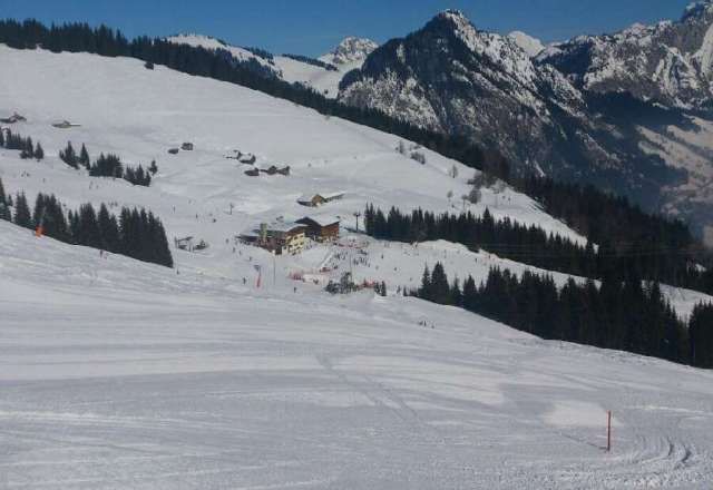 pas grand monde pour la p?riode, un beau soleil et une neige au top !