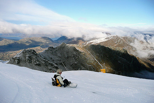 Skifahren in Coronet Peak, New Zealand - © Adrian Pua