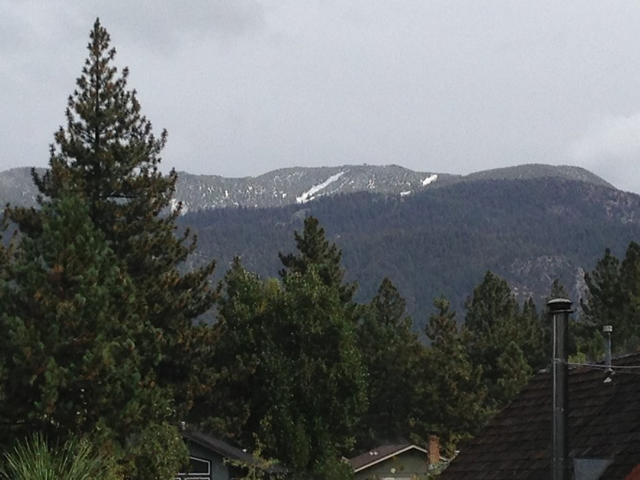 First snow at Heavenly's Sky Express, 9.21.13 - ©Heavenly Mountain Resort