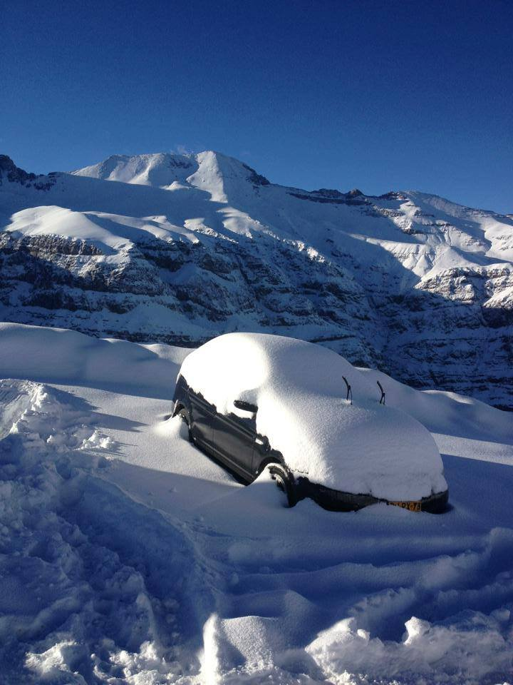 Over a foot of snow fell at Valle Nevado over the weekend - ©Photo Courtesy Valle Nevado