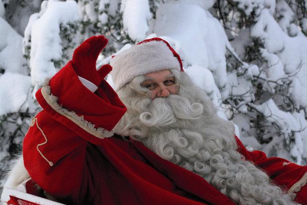 Levi, Finland meet Santa Claus - © Levi/Facebook