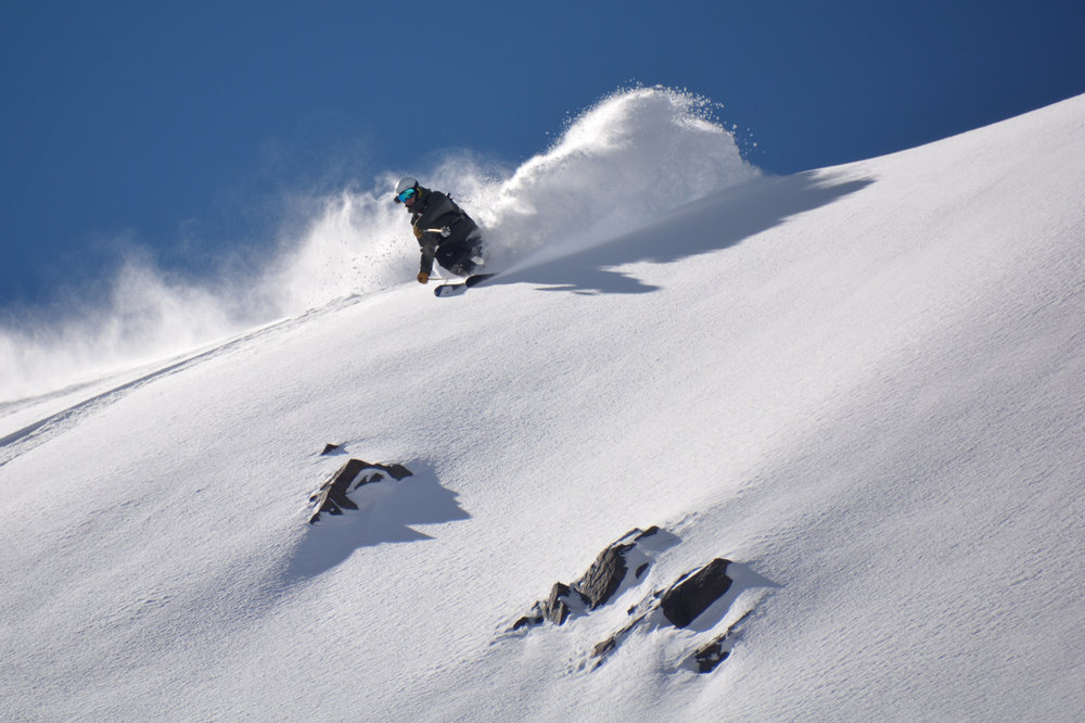 Mike Reff skis La Parva Backcountry, Chile