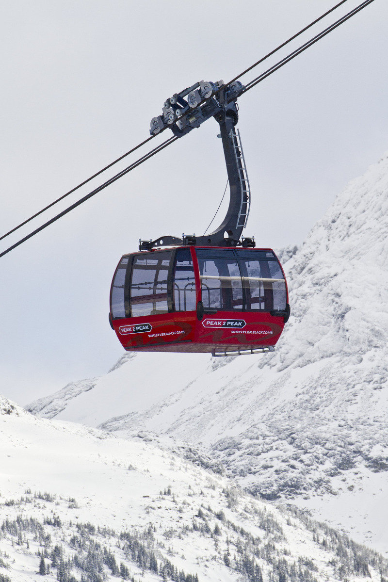 The Peak2Peak ski lift in Whistler