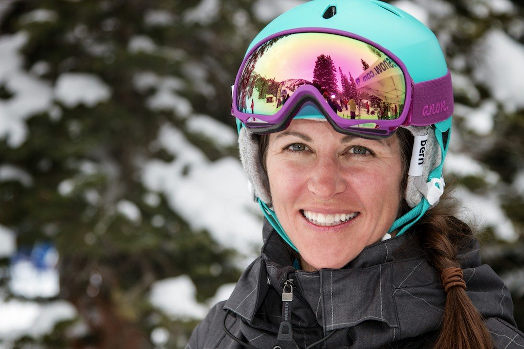 Sharelle Rodman: Former racer, seasoned ski tester, Park City realtor and local ripper - © Liam Doran