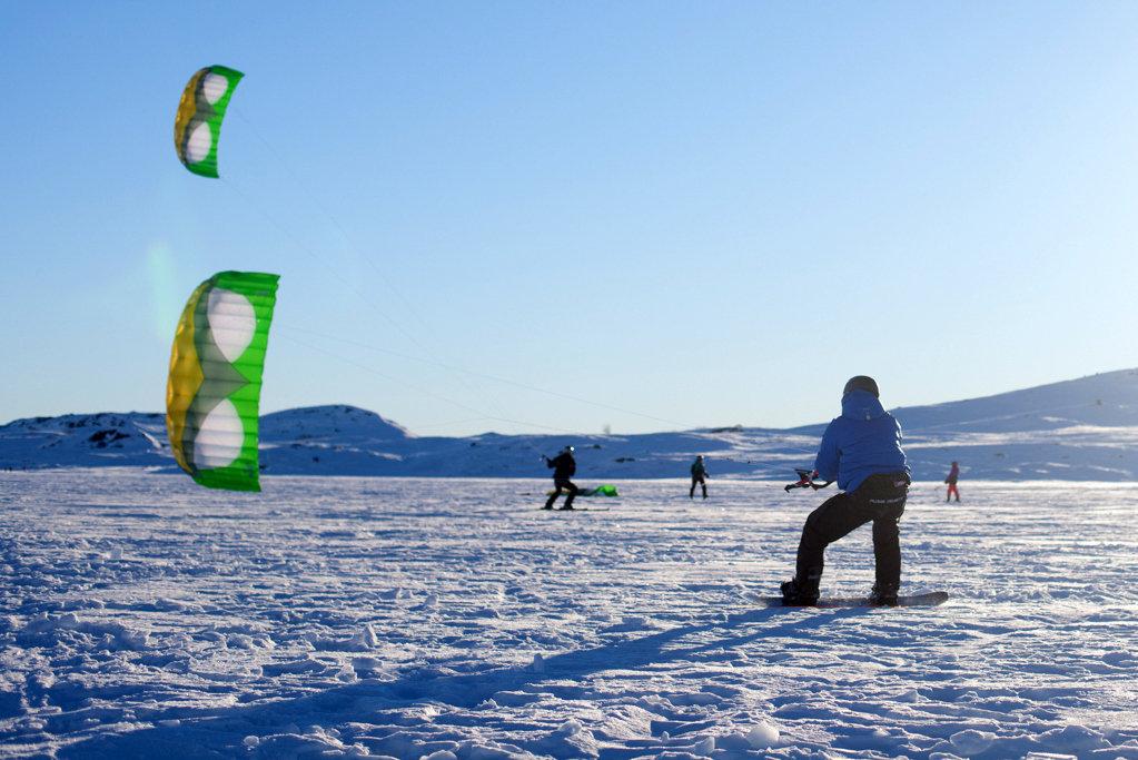 Kiting på Bergsjøen - © Kiteskolen