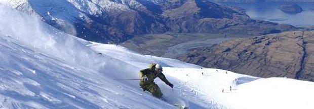 A skier at Treble Cone, NZ.