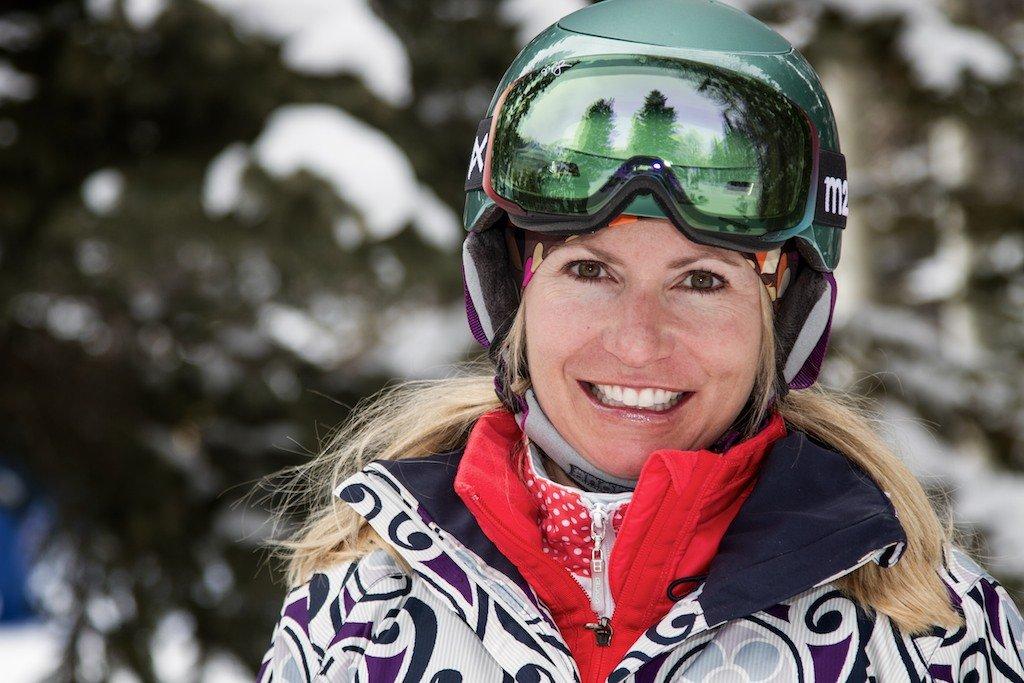 Sue Minecci: Former NCAA Division I racer, Alta ripper - © Liam Doran