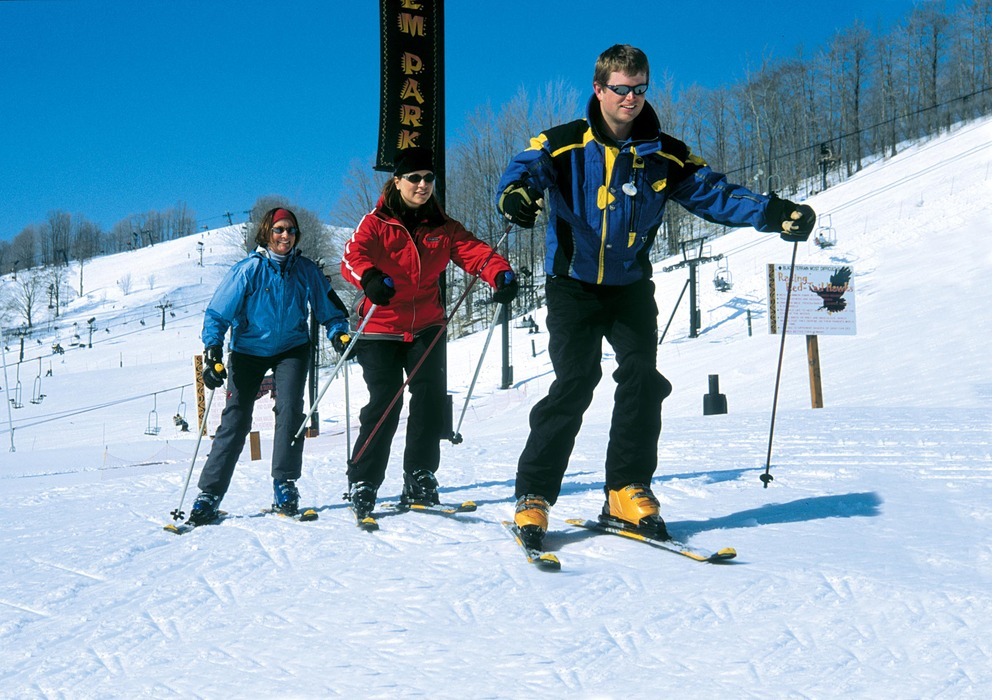 Skiing lessons at Crystal Mountain, Michigan