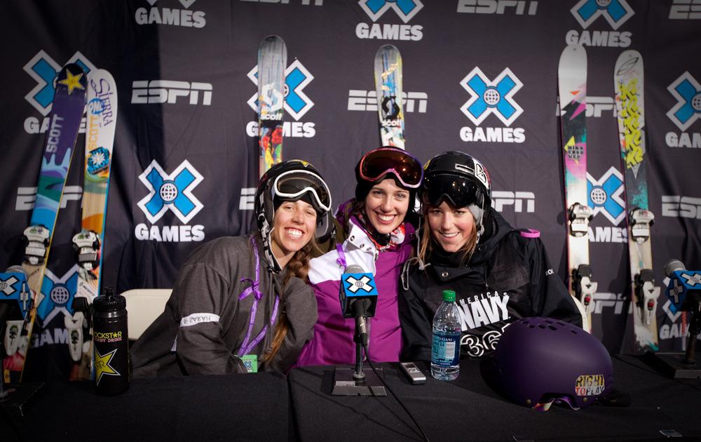 Maddie Bowman, Roz Groenewoud, and Brita Sigourney. Photo by Sasha Coben