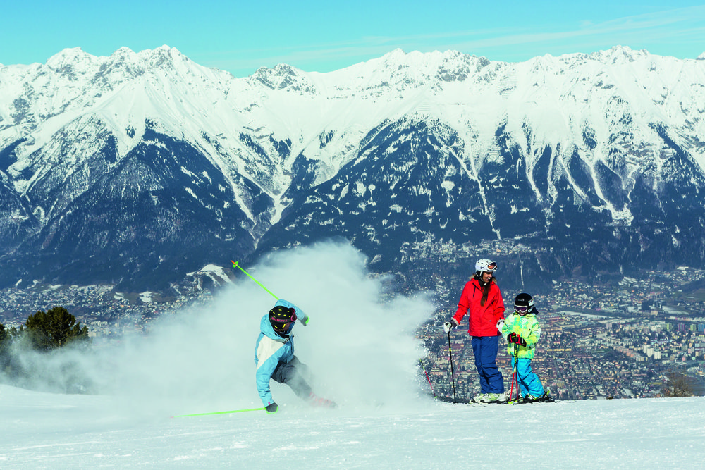 Awesome views over the city of Innsbruck from the Olympia Run, Austria - © Igls Tourist Office