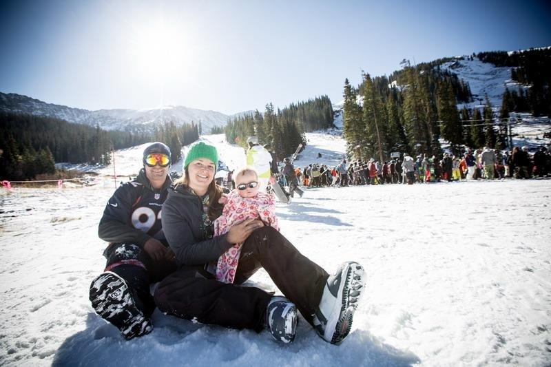Babies love the Basin - © Dave Camara/Arapahoe Basin Ski Area