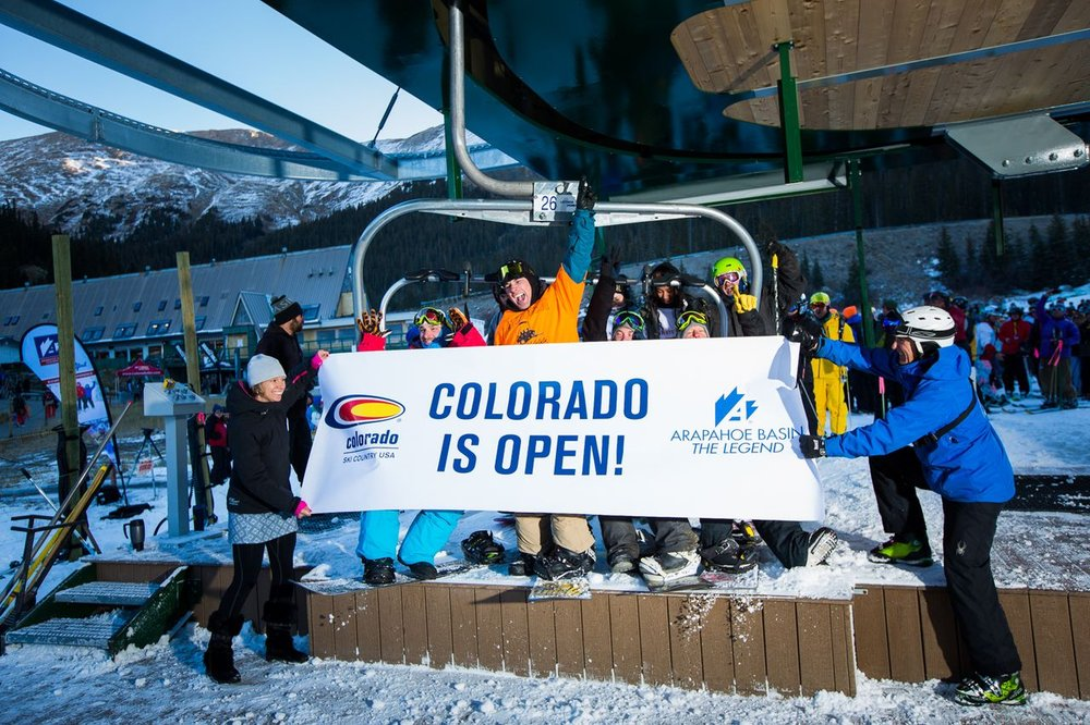 A-Basin sends lifts spinning early, opening the 2013/2014 ski season - © Arapahoe Basin Ski Area