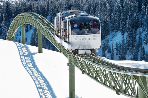 Best ski lifts: the Tschuggen Express in Arosa, Switzerland. - © Tschuggen Hotel Group AG