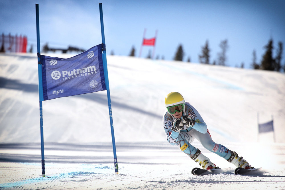 Brittany Lathrop trains with the U.S. Ski Team at Copper Mountain. - ©Photo courtesy Tripp Fay/Copper Mountain Resort.
