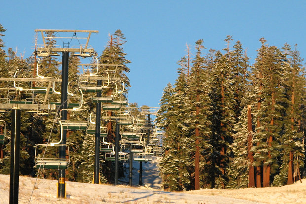 Debut snowfall at Mammoth - ©Discover Mammoth