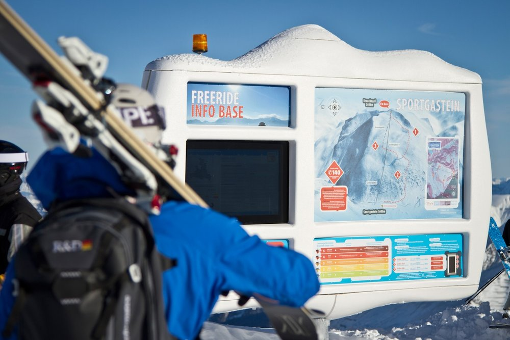 Freeride-infostation in Sportgastein