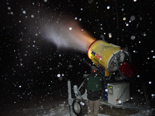 After getting blanketed with 6 inches of snow, Sipapu Ski and Summer Resort officially began snowmaking operations as the resort prepares to be the first ski area open in New Mexico (Opening Day is slated for November 16) - ©Sipapu Ski and Summer Resort
