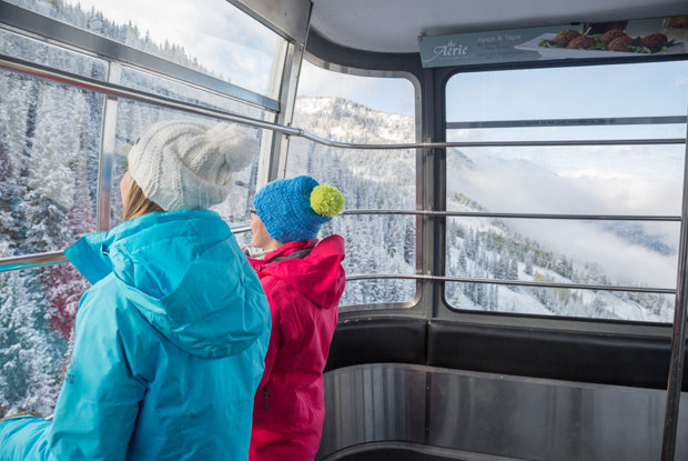 Gondola goers like what they see so far at Snowbird - © Matt Crawley