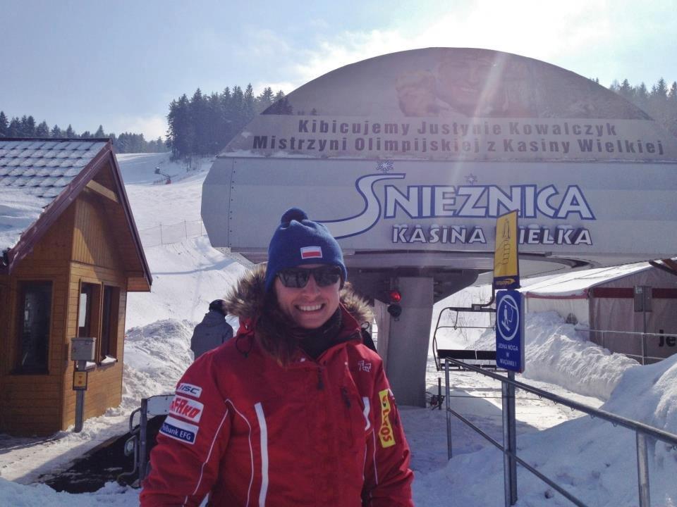 Justyna Kowalczyk in her native ski resort Kasina Wielka - Śnieżnica - © Stacja Narciarska Śnieżnica w Kasinie Wielkiej