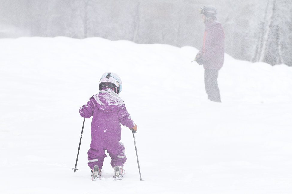 Snø er gøy i alle aldre - ©Kalle Hägglund