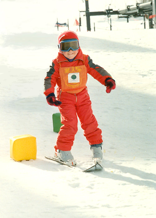 Ted Ligety's first gates, 1988, Park City