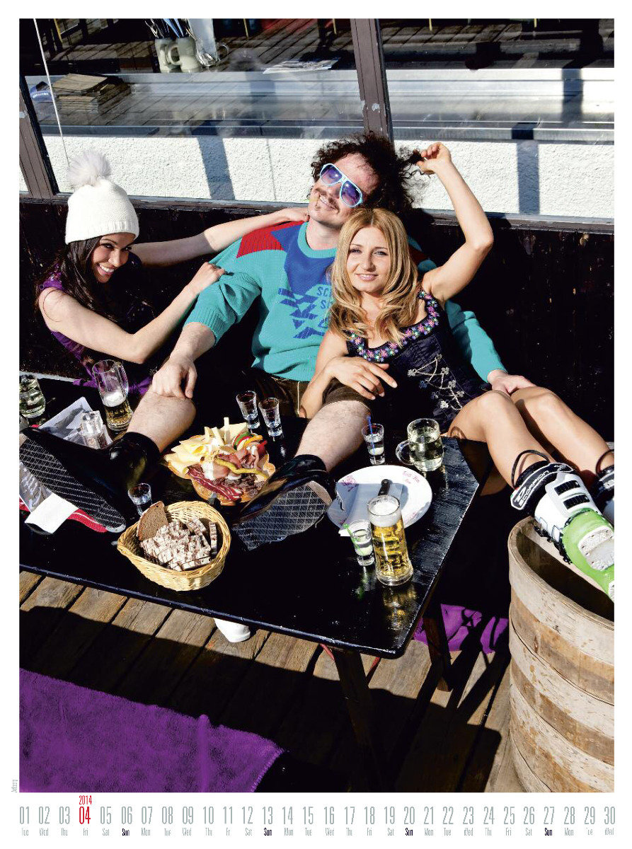 Mr April 2014 - Ski instructor calendar - ©Hubertus Hohenlohe/www.skiinstructors.at