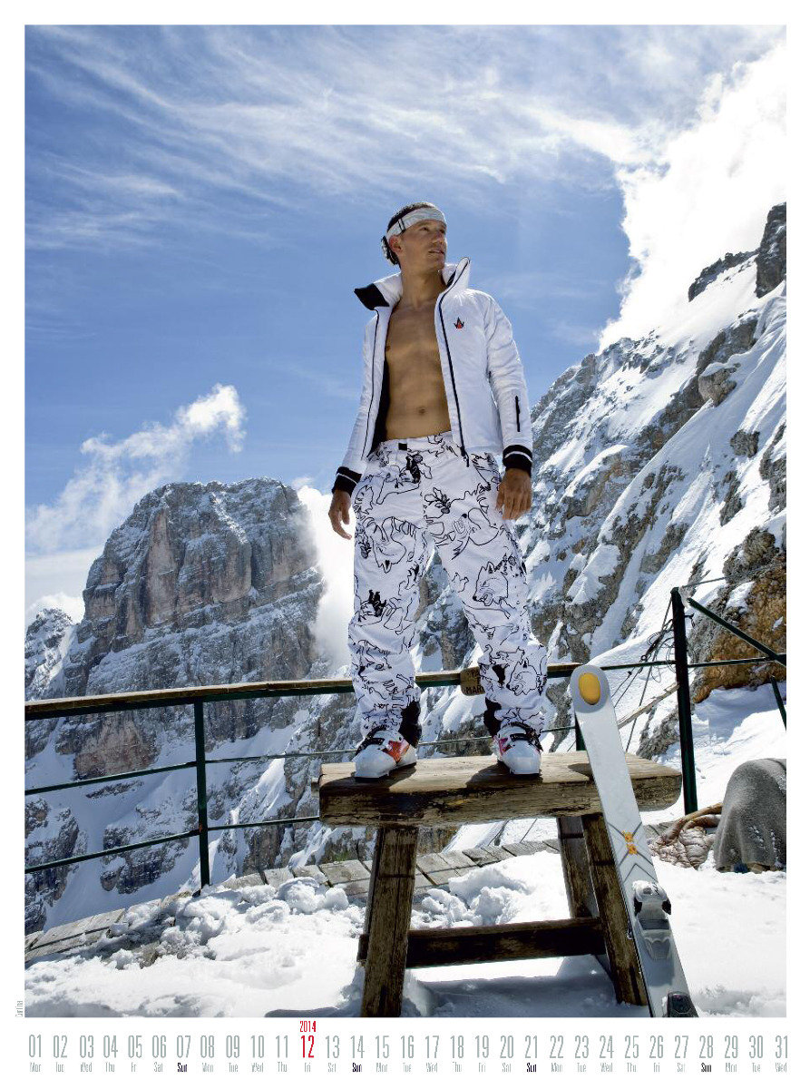 Mr December 2014 - Ski instructor calendar - ©Hubertus Hohenlohe/www.skiinstructors.at