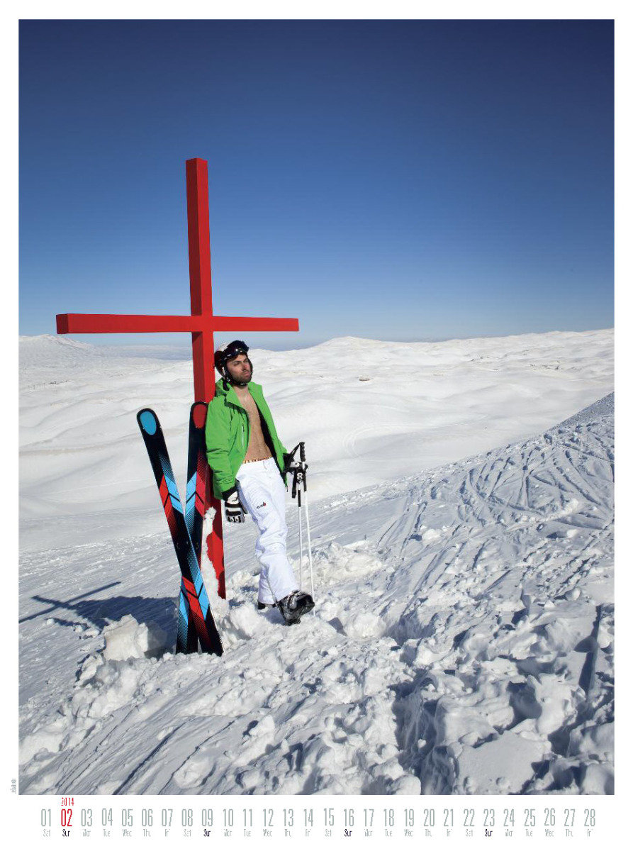 Mr February 2014 - Ski instructor calendar - ©Hubertus Hohenlohe/www.skiinstructors.at
