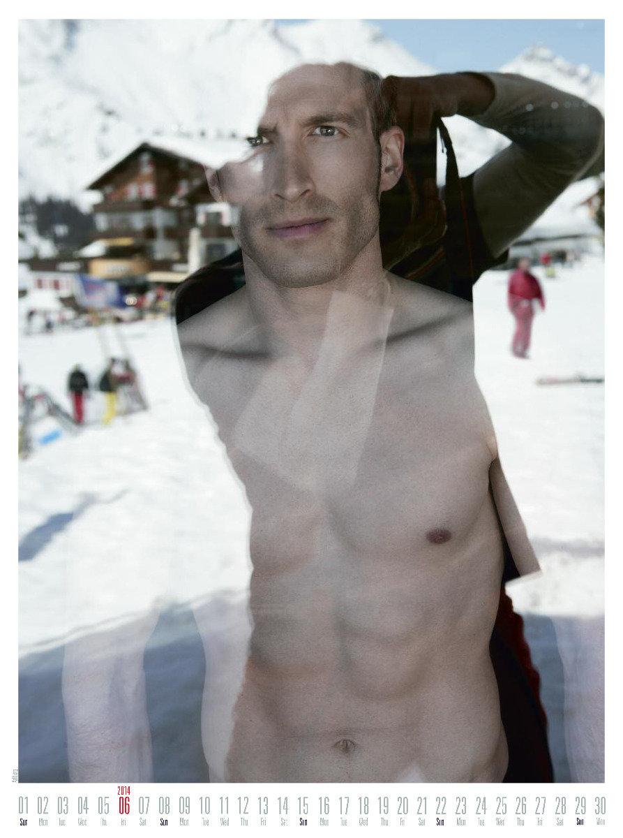 Mr June 2014 - Ski instructor calendar - ©Hubertus Hohenlohe/www.skiinstructors.at
