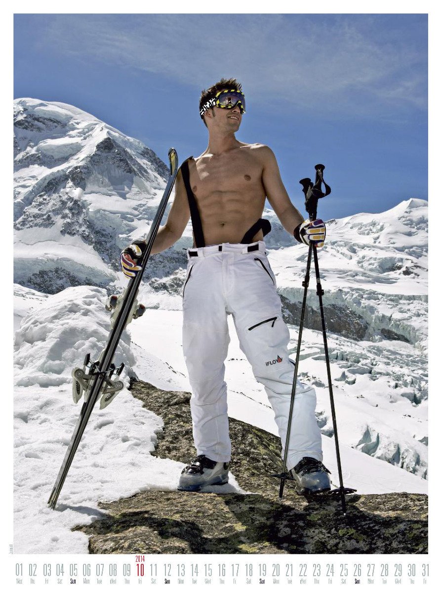 Mr October 2014 - Ski instructor calendar - ©Hubertus Hohenlohe/www.skiinstructors.at