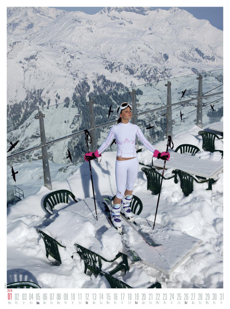 Ms January 2014 - Female Ski Instructor Calendar - ©Hubertus Hohenlohe/www.skiinstructors.at